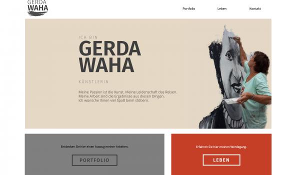 Gerda Waha - Website Konzeption und Design www.gerda-waha.de